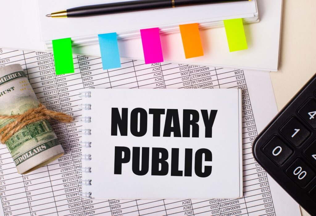 Notary Public Signature - when you need a notary